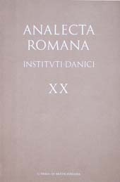 Analecta Romana Instituti Danici, XX (1992)